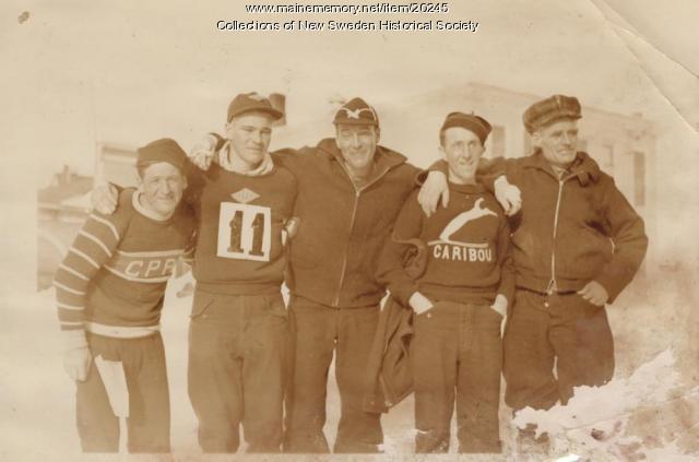 1936 Bangor to Caribou Marathon Skiers
