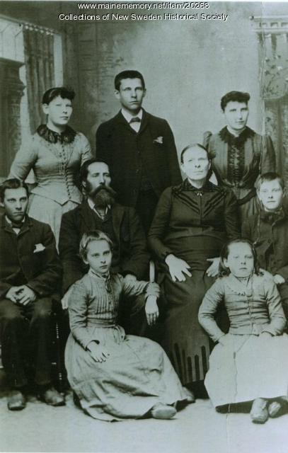 Landeen Family, New Sweden, ca. 1890