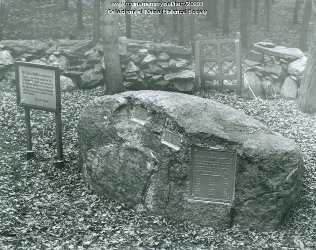 Graves of Baxter animals, Mackworth Island, 1953