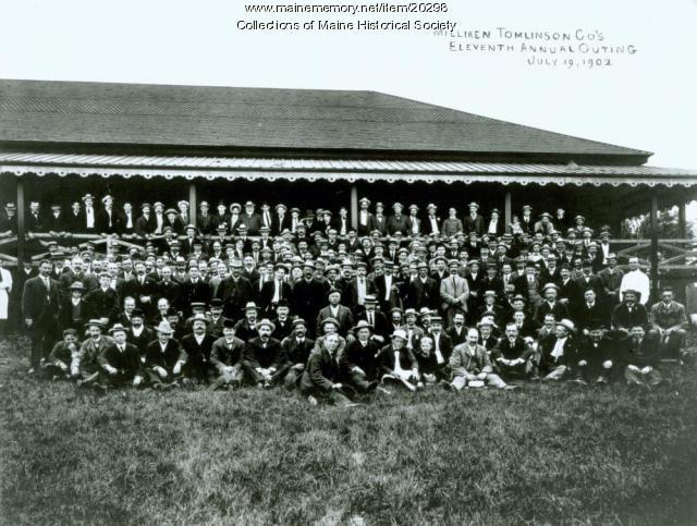 Milliken-Tomlinson Co. outing, Portland, 1902