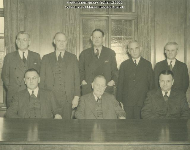 Portland National Bank officers, 1939