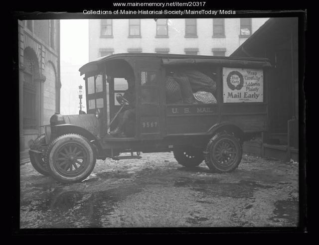 Mail truck, Portland, 1926
