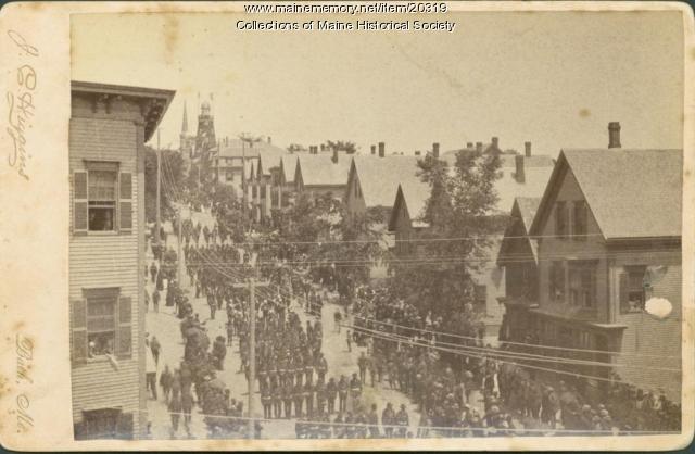 Grand Army of the Republic parade, Portland, 1885
