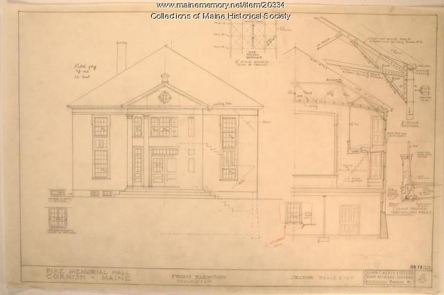 Pike Memorial Hall, Cornish, 1925