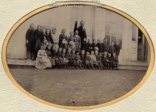 First school, New Sweden, ca. 1875