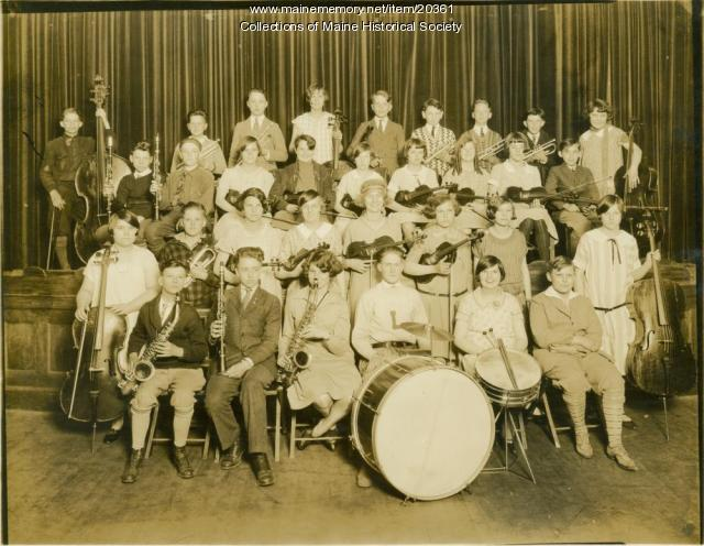 Orchestra, Lincoln Junior High School, Portland, 1925