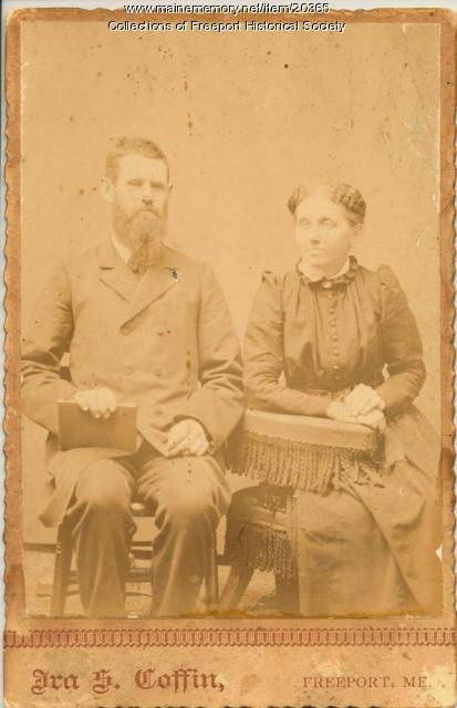 Wallace and Adelaide Pettengill, Freeport, ca. 1890