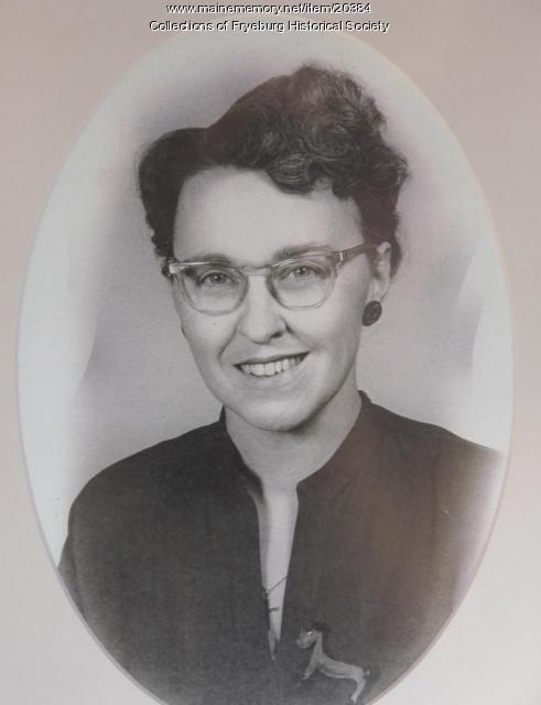 Dorothy (Stevens) Dore, Fryeburg, ca. 1960