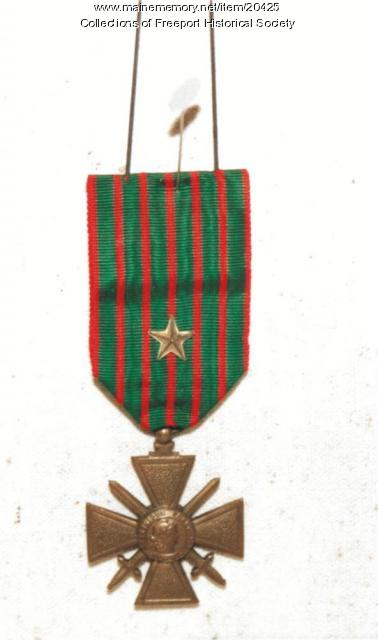 Croix de Guerre with gilt star awarded to John Arthur Stowell, 1918