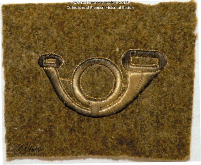 World War I musician's patch from John Arthur Stowell's uniform, 1918