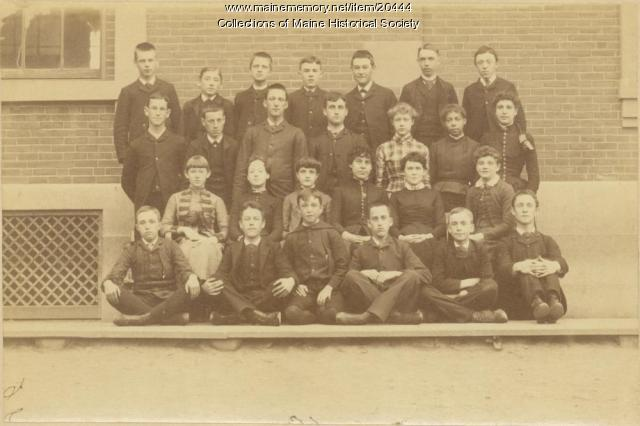 North School, Portland, graduates, 1886