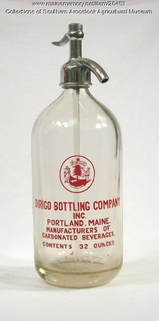 Dirigo Bottling Company bottle, Portland, ca. 1928