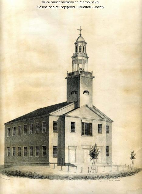 Congregational Church, Brunswick, ca. 1820