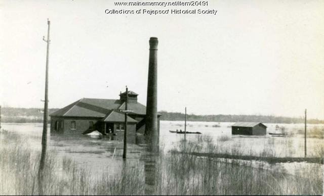 Flooded Pumping Station, Brunswick, 1936