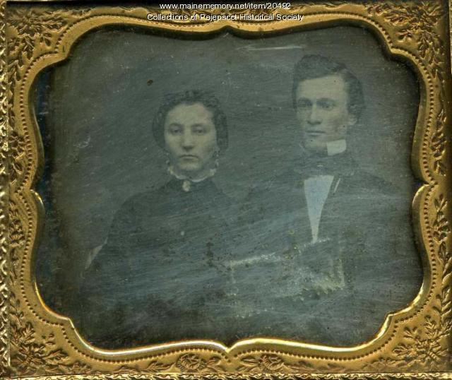 Portrait of James B. and Marilla Quinnan Hobbs