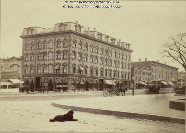 Fluent Block, Congress Street, Portland, ca. 1885