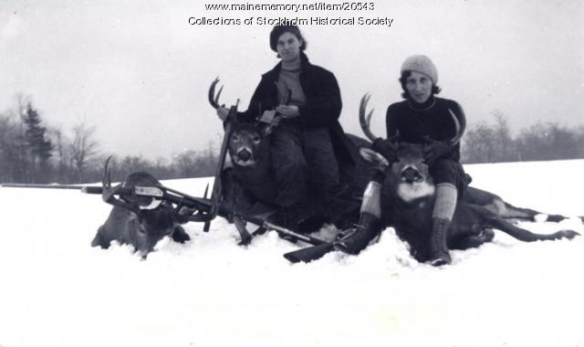 Hunting deer, Stockholm.  c. 1930