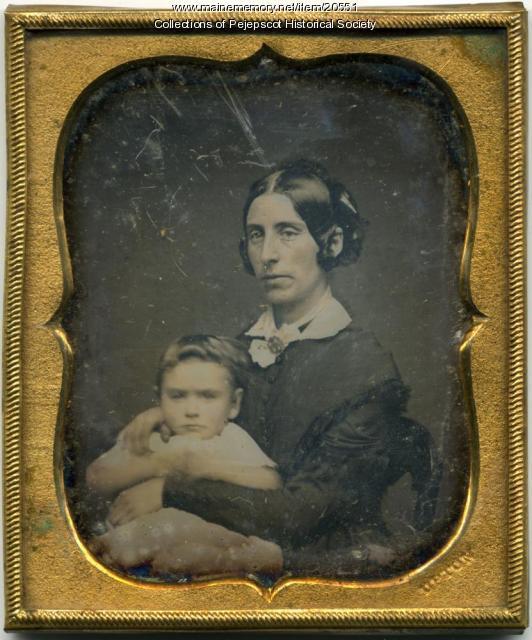 Susan Pryor Mustard and son, ca. 1850