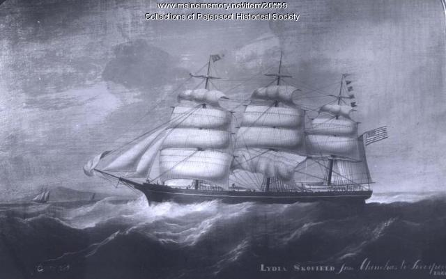 Ship Lydia Skolfield, ca. 1865