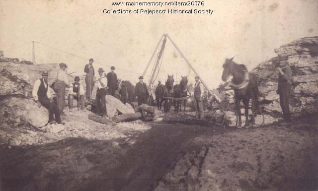 Construction site, Brunswick, ca. 1890