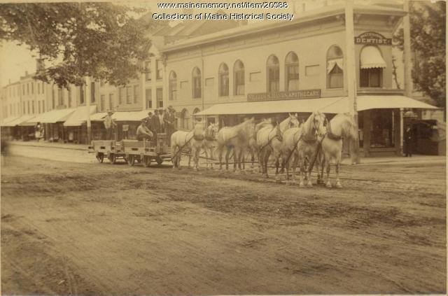 Congress at Free Street, Portland, ca. 1890