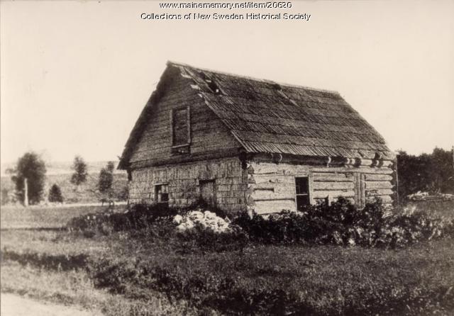 Log Cabin, New Sweden, 1938
