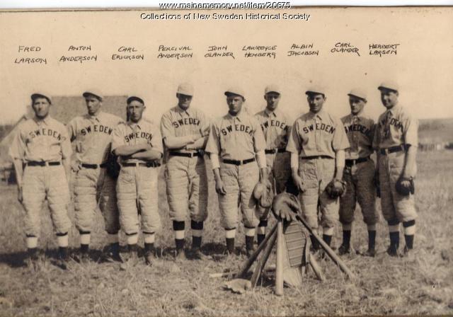New Sweden Baseball Team, 1916