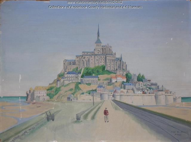 Painting of Mont Saint Michel, ca. 1945
