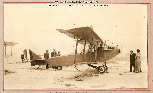 Curtiss JN-4C, Old Orchard Beach, ca. 1927