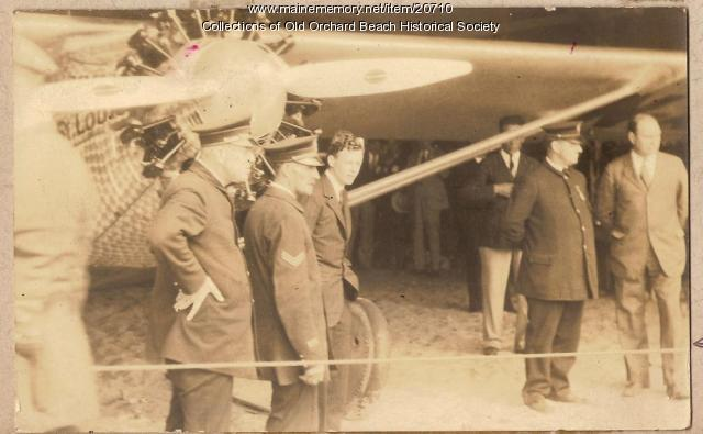 Charles Lindbergh, Old Orchard Beach, 1927
