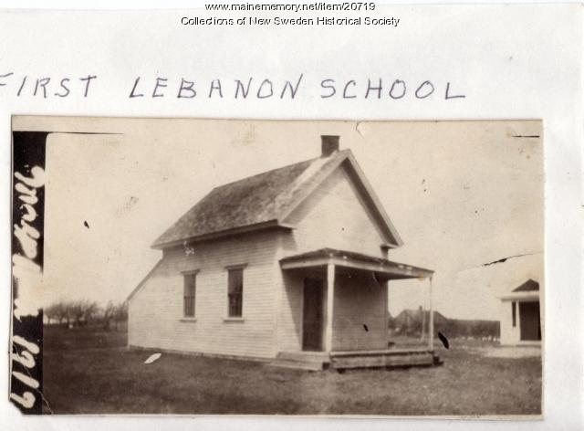 Lebanon School, New Sweden, 1917