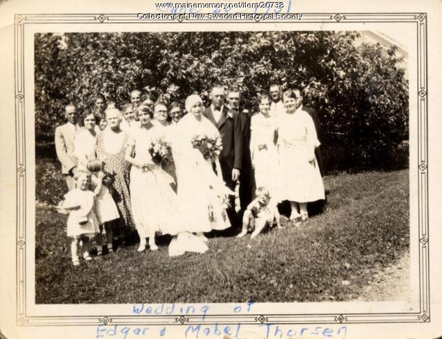 Edgar and Mabel Thorsen wedding, New Sweden, 1931