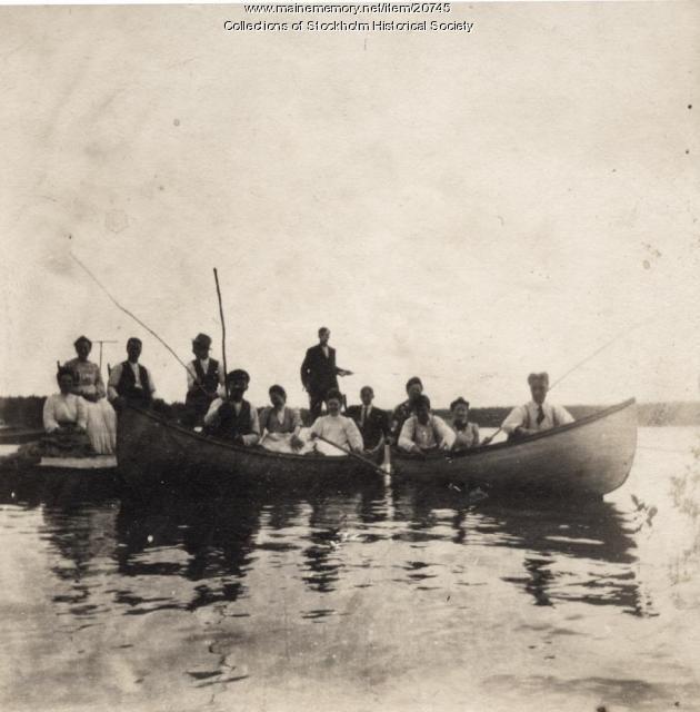 Madawaska Lake boating Party, T16R4, c. 1910