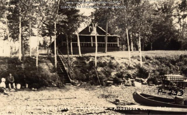 Camp at Xerxes Sporting Camps on Square Lake, ca. 1920