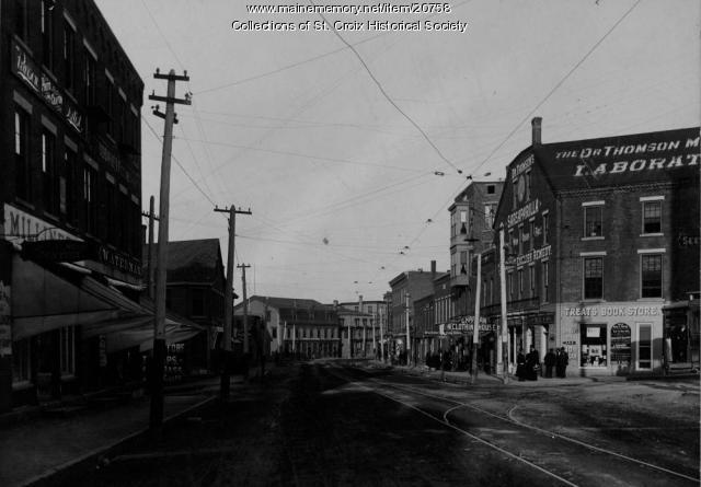 Treat's Corner, Main St, Calais ca. 1900