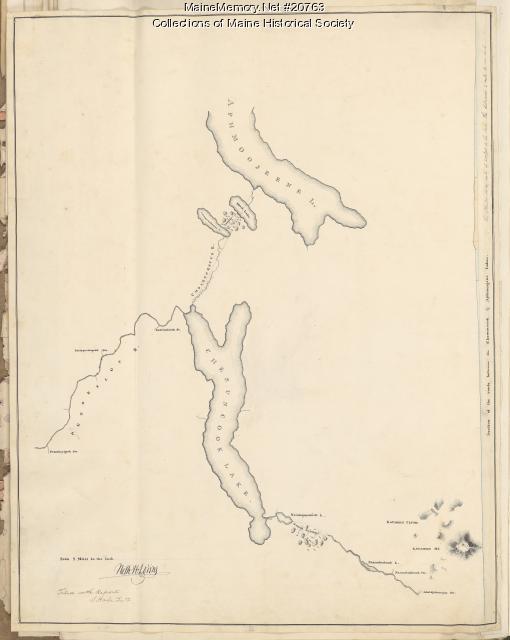 Penobscot River and Chesuncook Lake, 1820