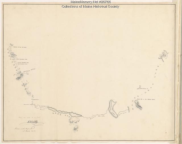 Moose River, Moose Head Lake and Kennebeck Road, 1820