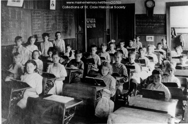 Excelsior School second grade, Brewer, ca. 1913