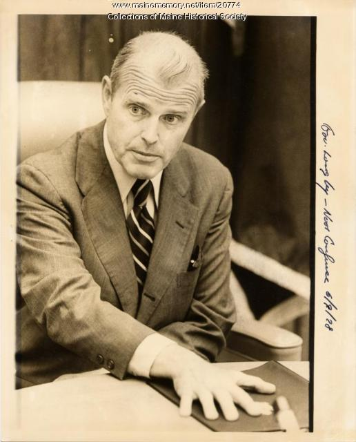 Gov. James Longley, press conference, 1978