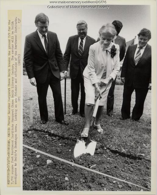 Margaret Chase Smith, groundbreaking ceremony, 1981