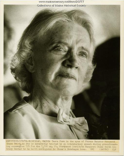 Margaret Chase Smith, Skowhegan, 1981