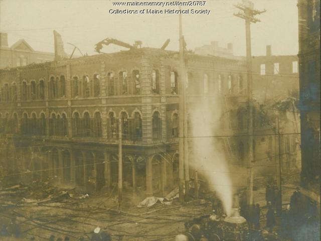 Fire, Middle Street, Portland, ca. 1909