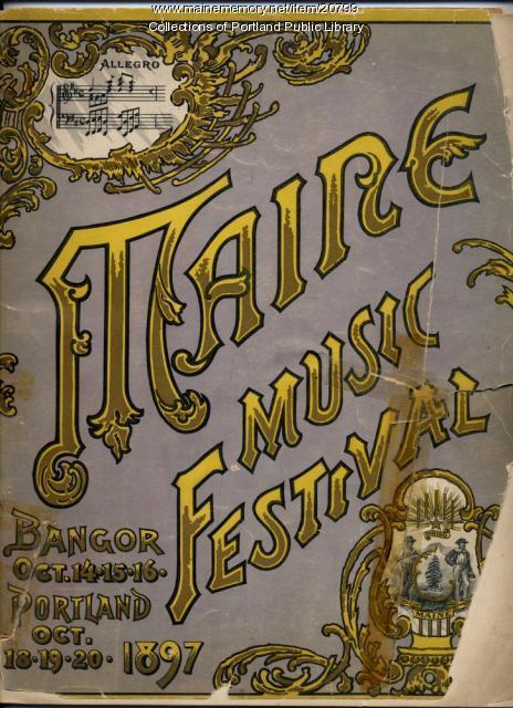 Maine Music Festival program, 1897