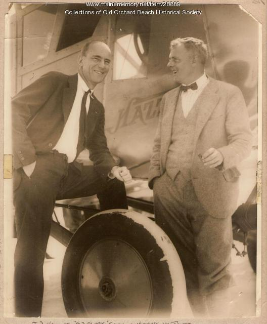 J. D. Hall of 'Old Glory' crew, Harry M. Jones, Old Orchard Beach, 1927