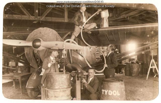 Fueling 'Green Flash,' Old Orchard Beach, 1929