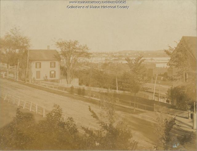 View from Bullard house, Portland, ca. 1900