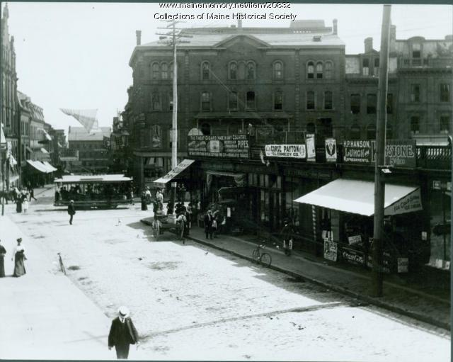 Exchange Street, Portland, ca. 1900