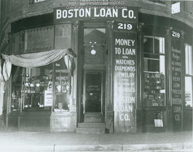 Boston Loan Co., Portland, ca. 1928