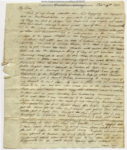 Josiah Pierce to Phebe Thompson, Flintstown, 1786