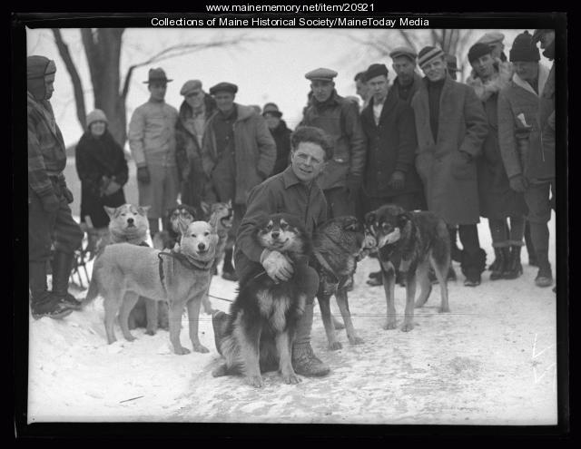 Seppala's dogs, Poland Spring, 1927